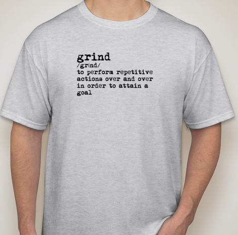 Grind Men's Short Sleeve (LIGHT GRAY)(cotton/poly blend)