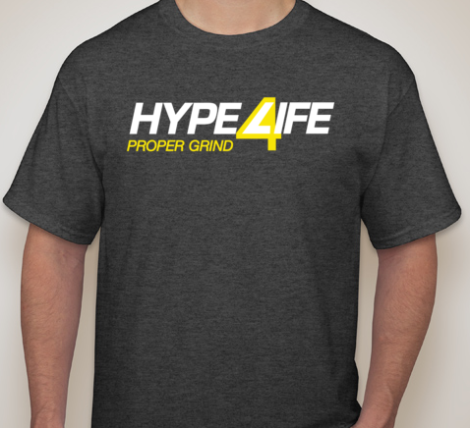 Hype4Life Men's Short Sleeve (DARK GRAY)(cotton/poly blend)